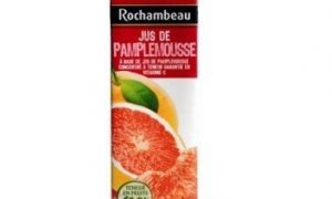 JUS DE PAMPLEMOUSSE 100% FRUIT 100 CL